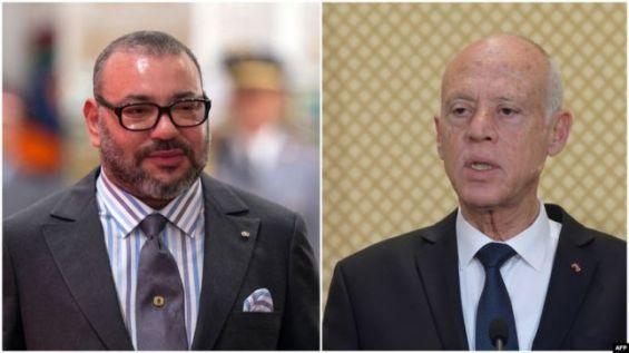 مكالمة هاتفية بين الملك محمد السادس والرئيس التونسي