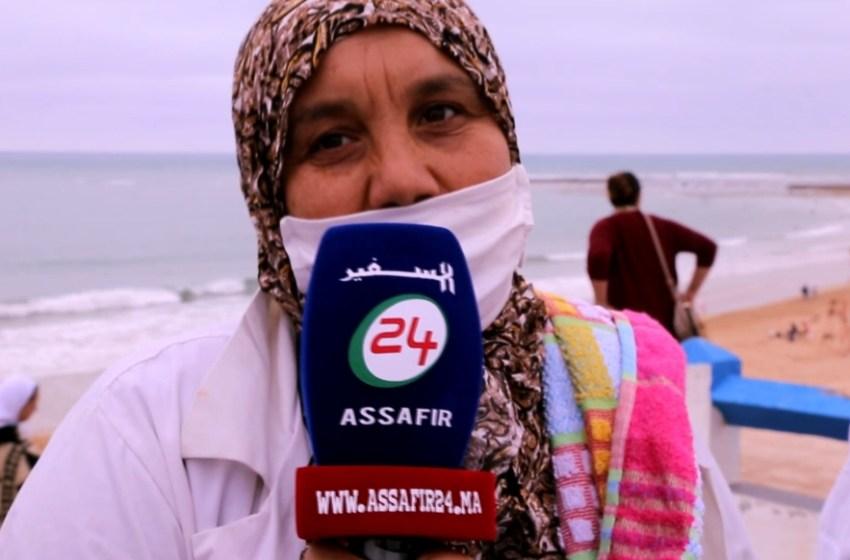 أجيو تشوفو أجواء التخفيف من الحجر الصحي بشاطئ سيدي بوزيد بالجديدة