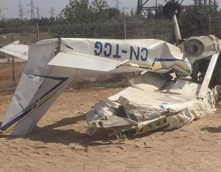 وفاة شخصين في حادث تحطم طائرة بالقنيطرة