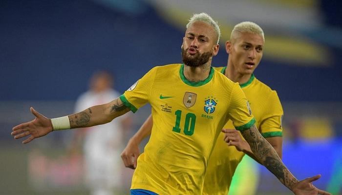 النجم نيمار دا سيلفا….المركز الثاني بقائمة الهدافين التاريخيين لمنتخب البرازيل