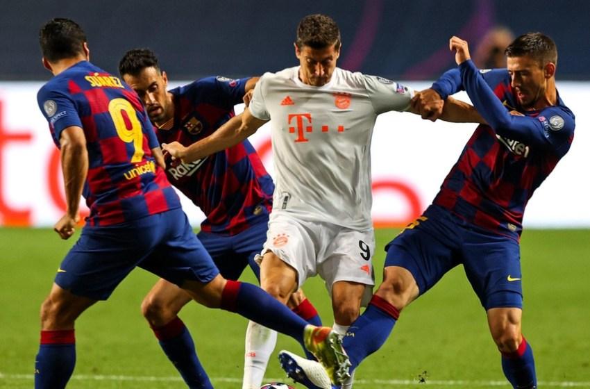 انهزام برشلونة بـ«ثلاثية مذلة» أمام نادي بايرن ميونخ