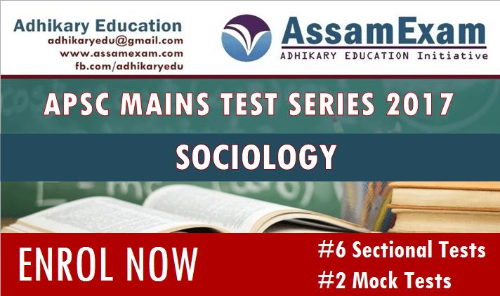 APSC Mains test series Sociology
