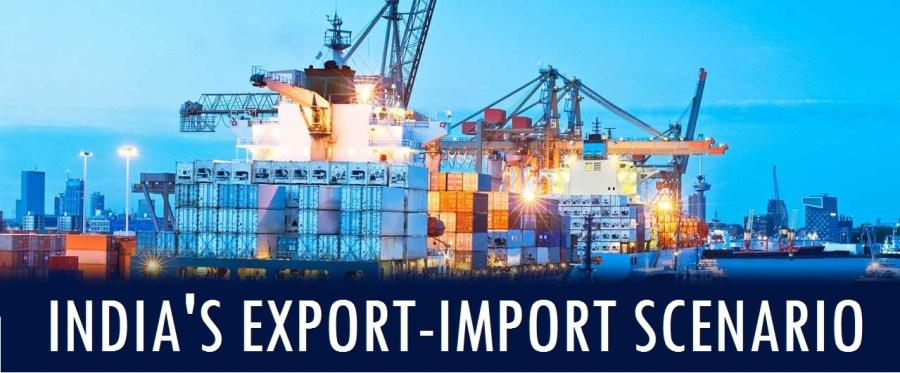 Export-import scenario of India - Assam exam