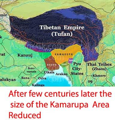 Later Kamarupa Map