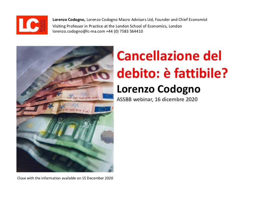 CodognoL_ ASSBB Debt cancellation is it feasible
