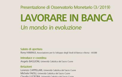 Presentazione di Osservatorio Monetario (3/2019)