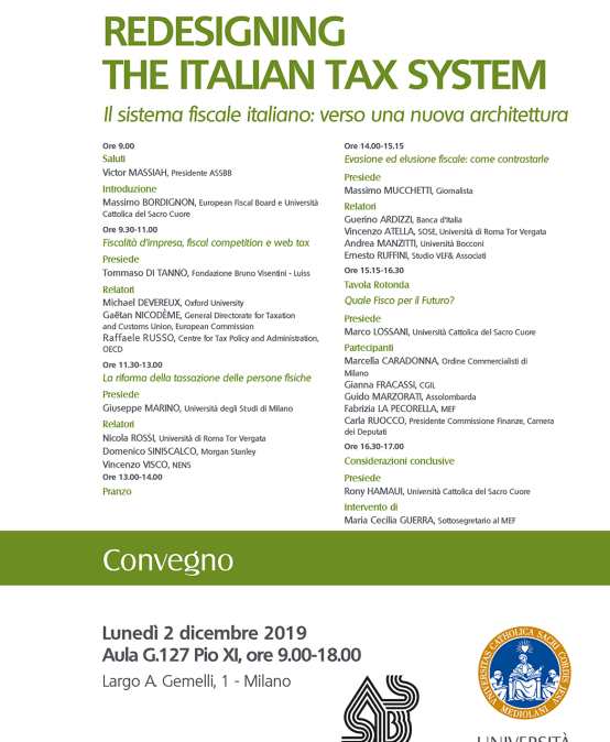 Redesigning the Italian tax system
