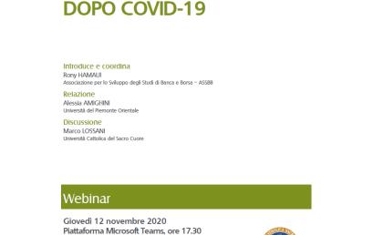 """Webinar """"LA CRESCITA IN CINA DOPO COVID-19"""""""