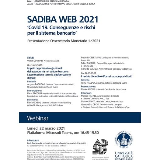 SADIBA WEB 2021 – 22 marzo