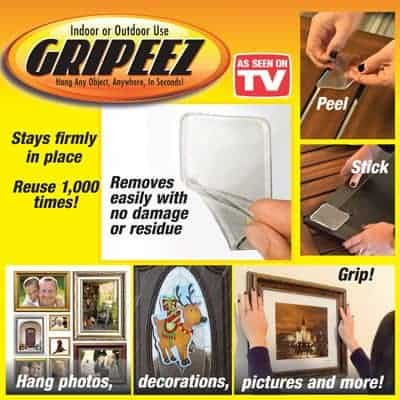 Gripeez Peel And Stick Super Strong Pad Grippers