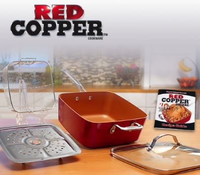 Red Copper Square Pan from Bulbhead