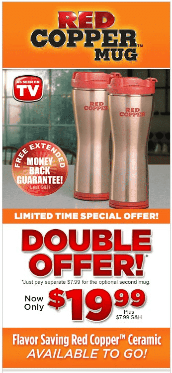 Red Copper Mug TV Offer