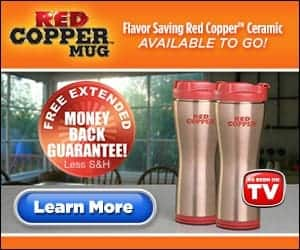 as seen on tv red copper mug