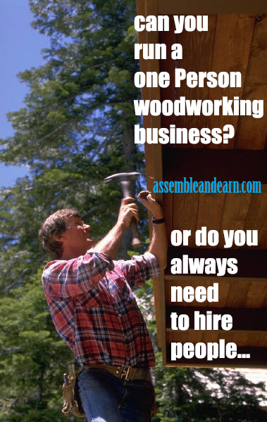 One person woodworking business