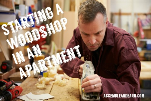 Woodshop in an apartment