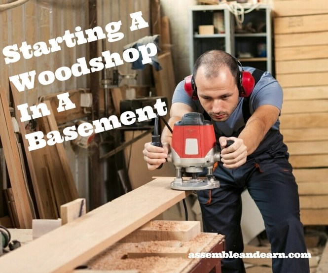 Woodshop in a basement