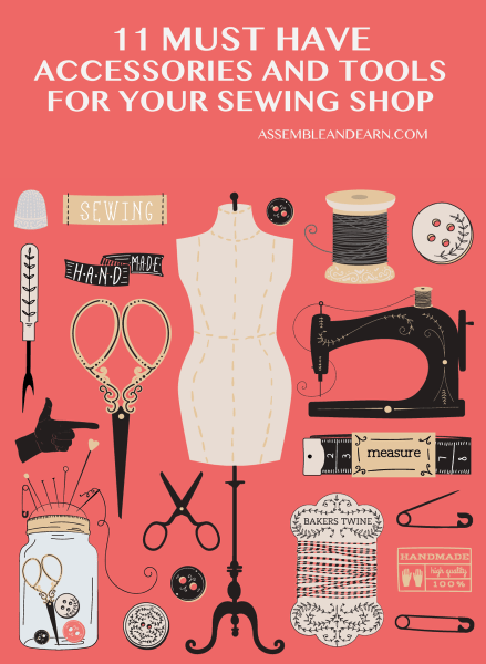 important sewing accessories and tools