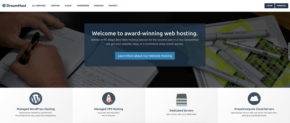 Dreamhost welcome