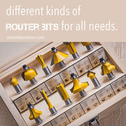 kinds of router bits