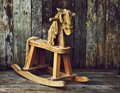 wooden horse toy