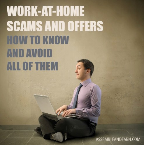Work at home scam offers
