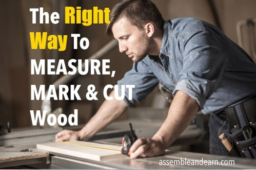 how to measure and mark wood for cutting