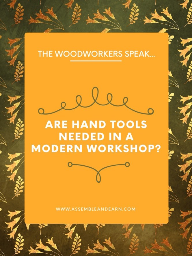 are hand tools needed in a work shop