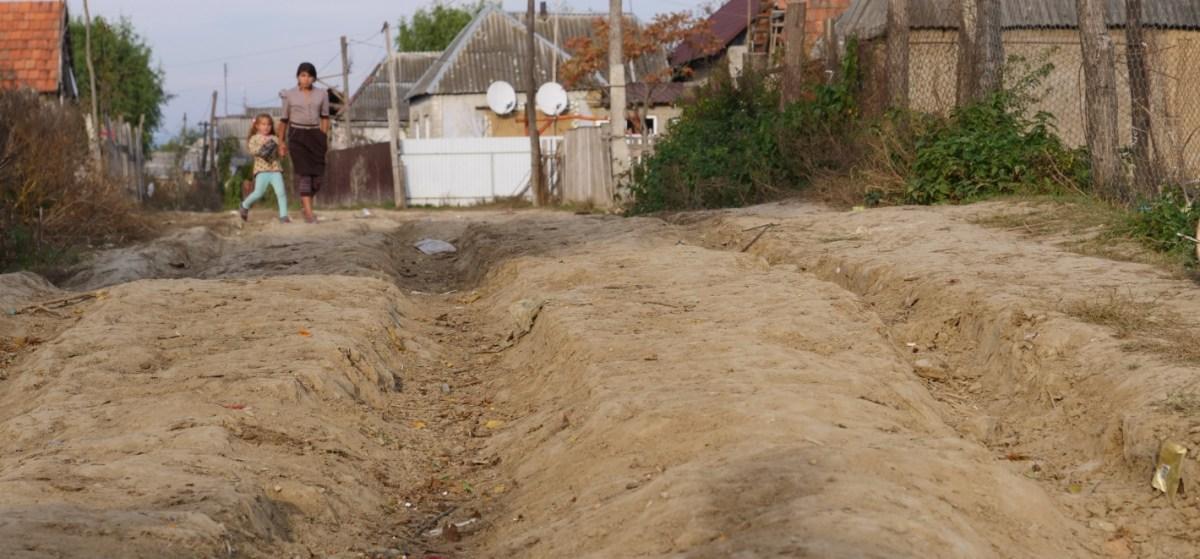 Pad Zigeunerkamp Oekraïne