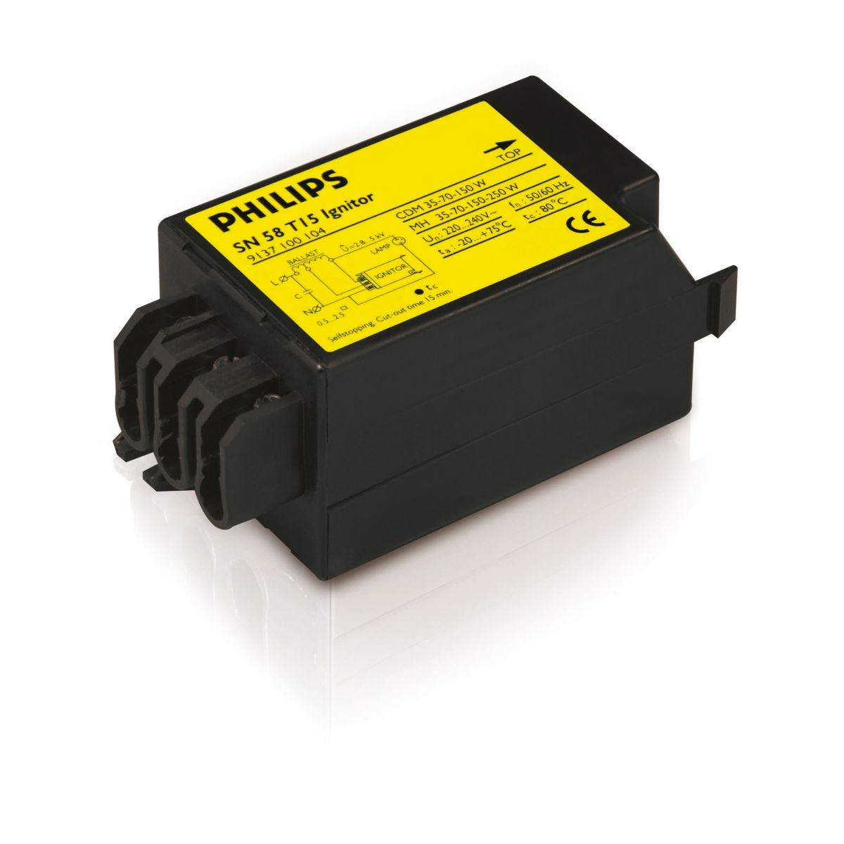 Electronic semiparallel ignitor for HID lamp circuits