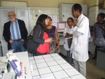 Visite du laboratoire d'hématologie