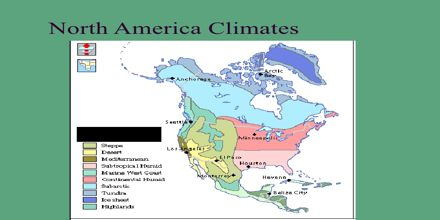Climate Of North America Assignment Point