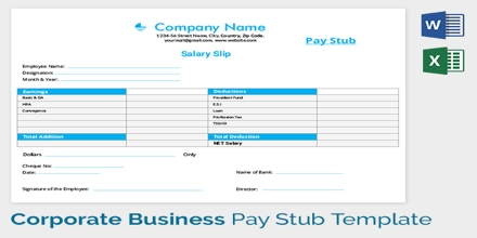 Simple Salary Slip Format For Small Organisation FREE DOWNLOAD - Small business pay stub template