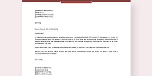 sample invitation letter format for