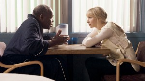 "Danny Glover and Beth Riesgraf in LEVERAGE - Season 4 - ""The Van Gough Job"" 