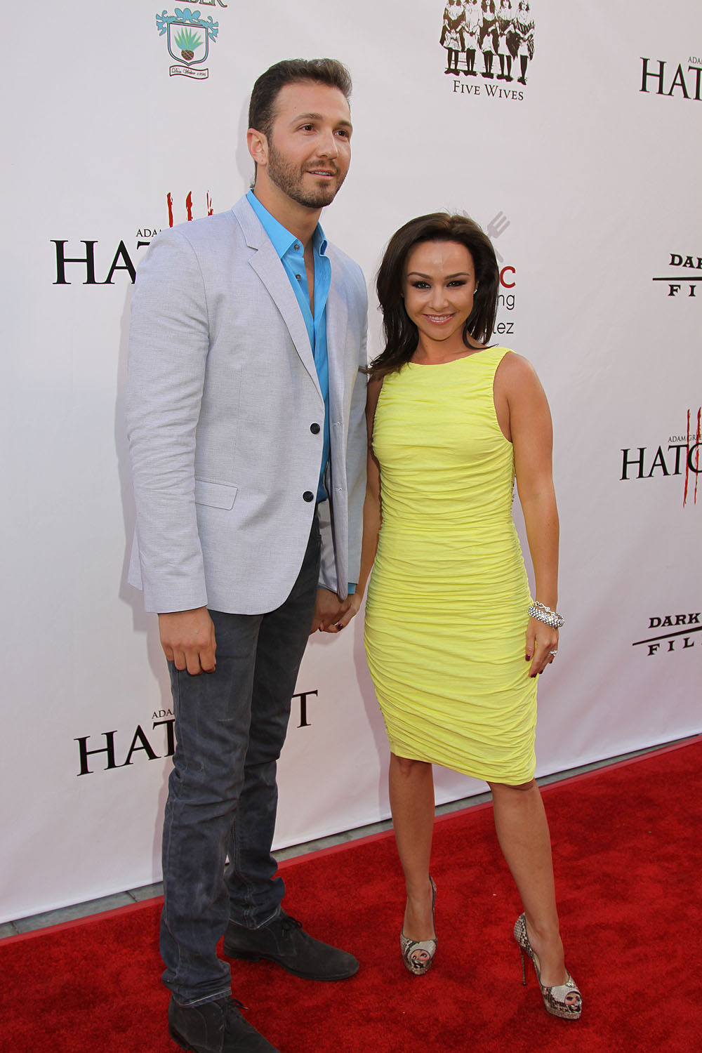 Danielle Harris And Fiance David Gross At The Red Carpet Premiere Of HATCHET III 2013 Sue
