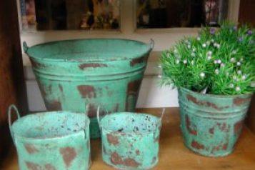 decoração vasos estilo rústico
