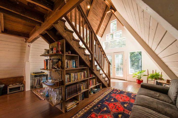 estante livros escada