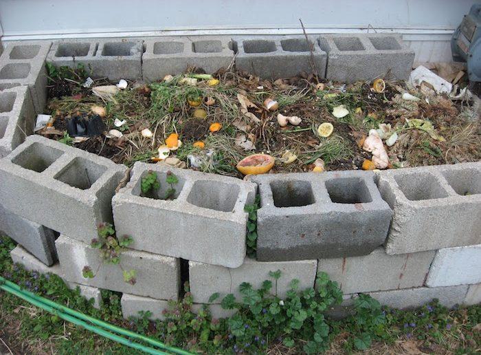 compostera de bloco de concreto
