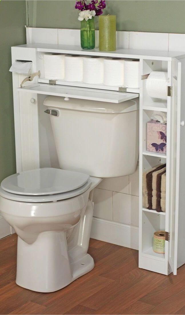 armazenamento em volta do vaso sanitário