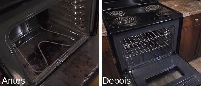 forno limpo e forno sujo