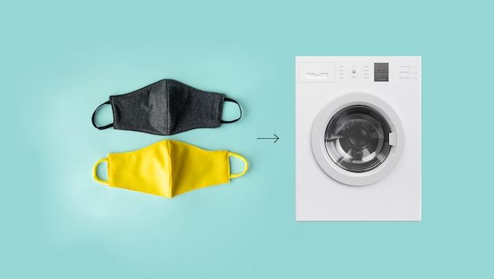 mascaras e lavadora de roupa