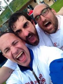 Da sx Fabio Falaschi (preparatore atletico), Fabio Caioroli (mister) e Matteo Possati (mister)
