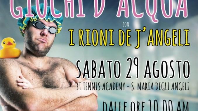 I Rioni de J'Angeli invitano la comunità angelana a sfidarsi in piscina