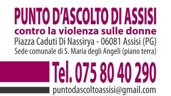 Punto d'ascolto Assisi, uscire dalla violenza si può