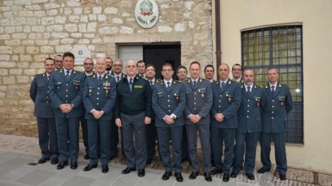 Generale Domenico Minervini in visita alla tenenza di Assisi Visita da parte del Comandante Interregionale dell'Italia Centrale della Guardia di Finanza