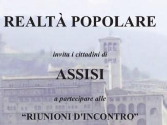 Realtà popolare incontra i cittadini di Assisi