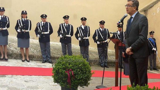 I saluti e i ringraziamenti del Sindaco di Assisi al Questore Gugliotta
