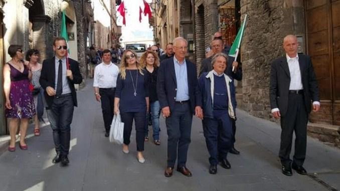 Renato Brunetta e Catia Polidori per Giorgio Bartolini ad Assisi