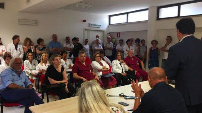 """Visita ospedale Assisi, Proietti: """"Una giornata storica per la città"""""""