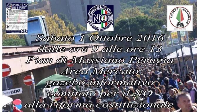 """Il Fronte Nazionale Umbria dice """"no"""" alla svolta Autoritaria della riforma costituzionale"""